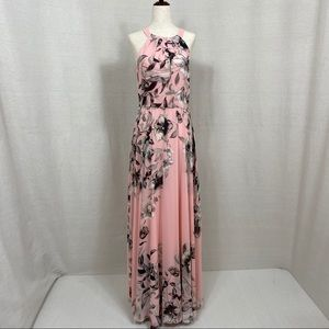 Eliza J. Floral Print Halter Maxi Dress